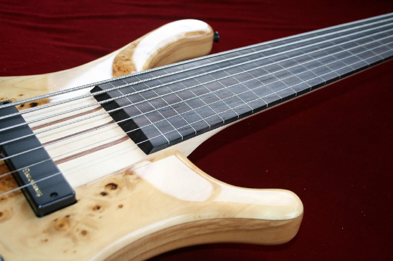 hk 7 string bass guitar fretless masurpop ash top ebay. Black Bedroom Furniture Sets. Home Design Ideas
